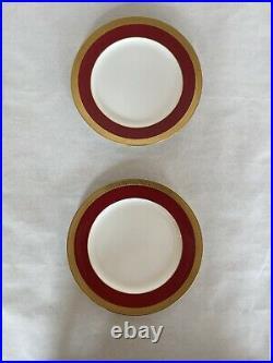 Tiffany & Co Antique Gold Leaf Dinner Plates 10 Mint