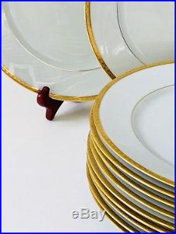 Tiffany & Co China Limoges GOLD BAND Dinner Plate 10 3/4
