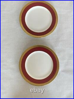 Tiffany & Co Gold Leaf Dinner Plates (8) Mint & Stunning