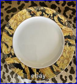 VERSACE Black Gold Vanity Dinner Plates