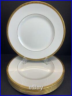 VTG Minton Winchester Demitasse K132 Gold Trim Dinner Plates 10.50 Set Of 6