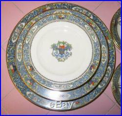 Vintage Lenox Autumn 30 pc 6 Settings Dinner Salad Bread Plates Cup Saucer Gold
