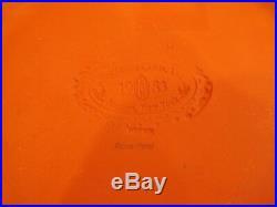 Vintage MacKenzie Childs Honeymoon Rose Petal Pink Dinner Plate Gold Rim 12