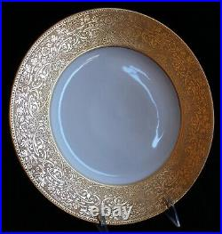 Vintage Set 11 Hutschenreuther Gold Encrusted Service Dinner Plates