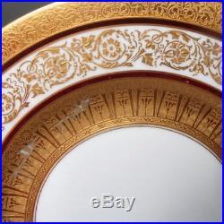 Vintage Set Of 12 Hutschenreuther Gold Encrusted Dinner/service Plates