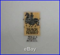 Vtg Bavaria BLACK KNIGHT Cobalt Blue and Gold Rim 10 1/4 Dinner/Cabinet Plate