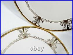 Vtg Lenox China Eternal Deco 2 Dinner Plates Art Deco Revival Service Charger