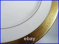 Vtg Lenox Gold Encrusted China Westchester 10 Dinner Plates