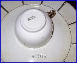 Wedgwood WW113 White Gold gilt China Tureen Dinner Plate set Mid Century Scallop
